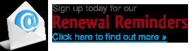 Renewal Reminders button